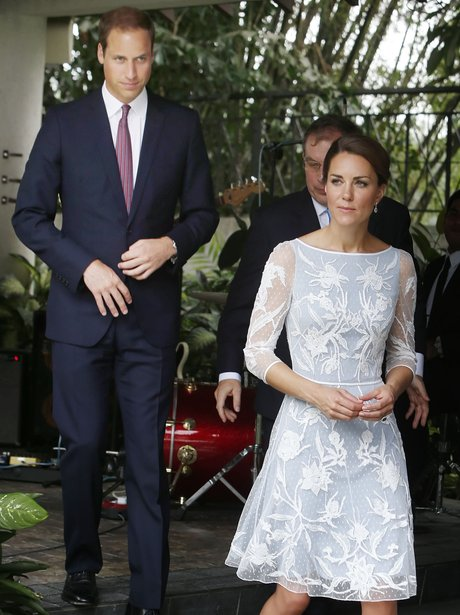 The Duke and Duchess of Cambridge take a stroll