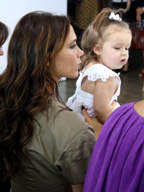 Victoria Beckham with Harper New York Fashion Week