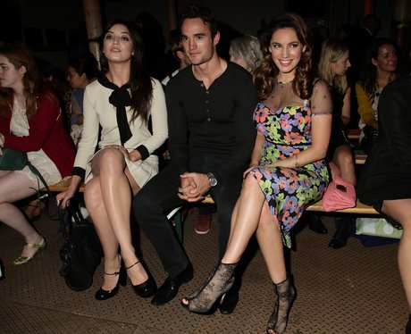 Daisy Lowe, Thom Evans and Kelly Brook at Moschino Cheap & Chic