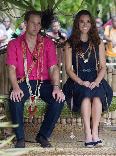 The Duke and Duchess of Cambridge in the Soloman Islands
