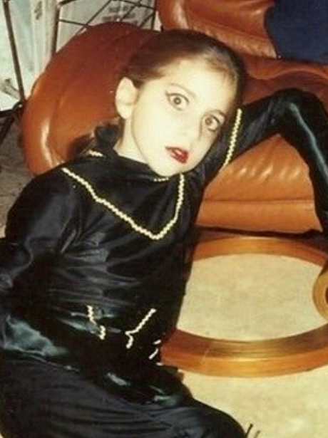 Lady Gaga aged 9 in halloween outfit