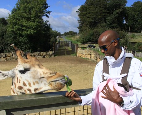 Mo Farah at Longleat