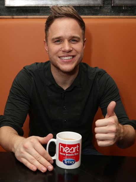 Love Music Live with Olly Murs drinking tea