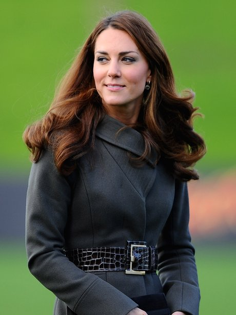 kate middleton and prince william at the football