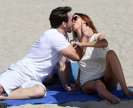 Una Healy and Ben Foden Kiss