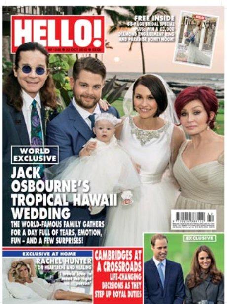 Hello Magazine featuring Jack Osbourne's Wedding