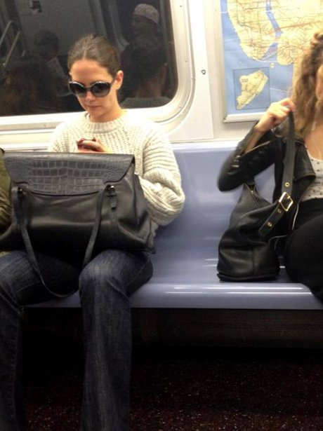 Katie Holmes on the Tube