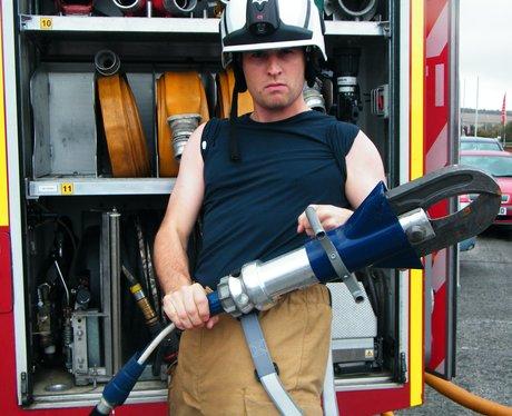 Tom & Jack pose as firemen