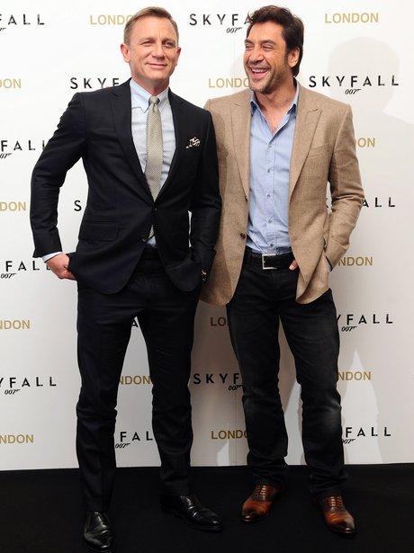 Daniel Craig and Javier Bardem at the Skyfall photocall