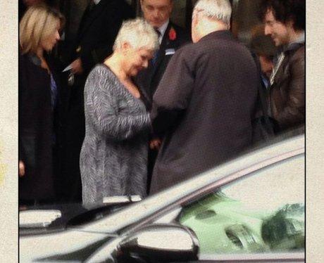 Dame Judi signing autographs before JK's interview
