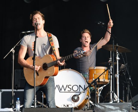 Lawson performs live on stage