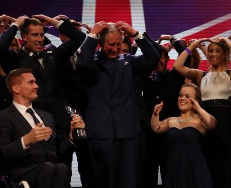 Prince Charles does the Mobot at Pride of Britain Awards 2012