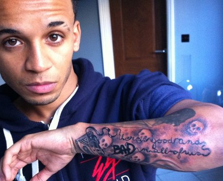 Aston Merrygold new tattoo