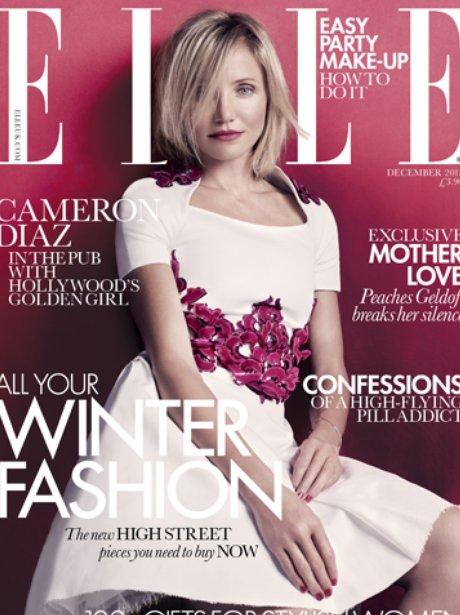 Cameron Diaz in Elle Magazine