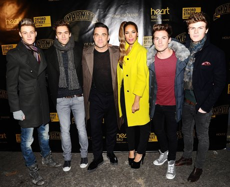london christmas lights with robbie williams