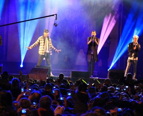 The Mall Christmas Lights with JLS