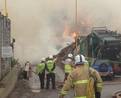 Fire At Timber Recycling Center In St Albans