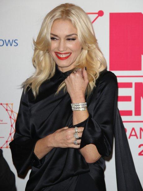 Gwen Stefani smiling on the red carpet