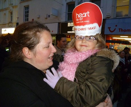 Christmas light switch on in Chatham