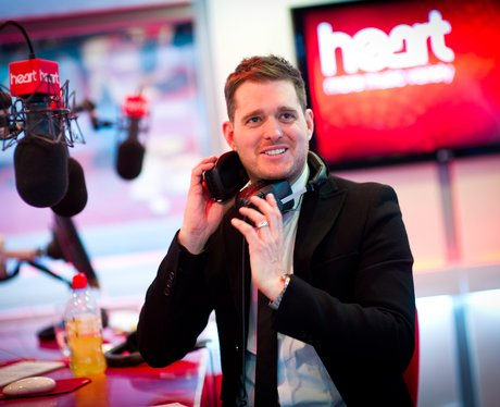 Michael Bublé in the studio