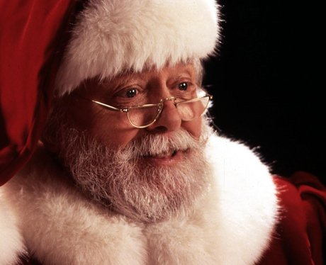 A screenshot of Santa Claus from the film 'Miracle On 34th Street'
