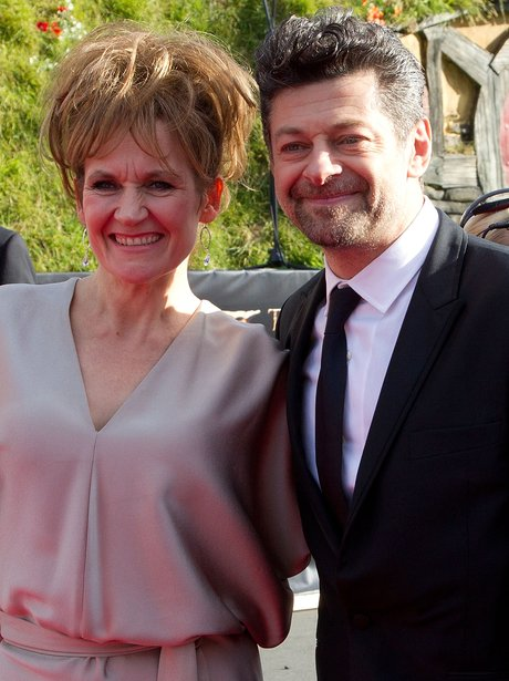 Andy Serkis and Lorraine Ashbourne arrive