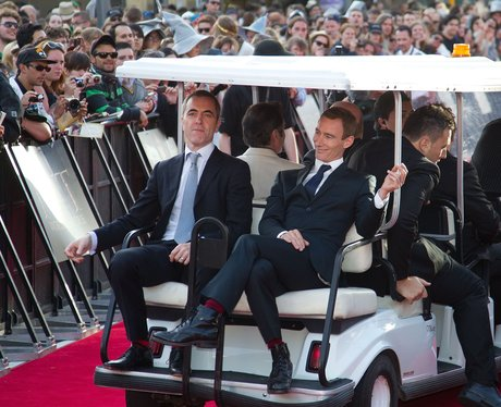 James Nesbitt and Jed Brophy on the red carpet