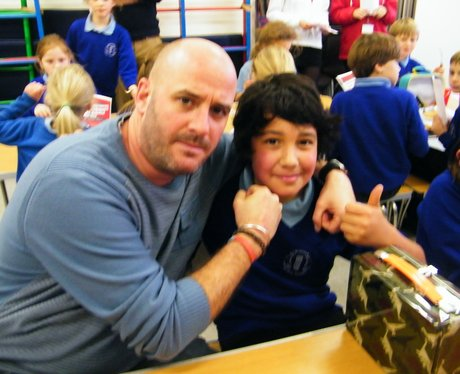 Tom, Kaz & Jack visit Twineham C of E Primary scho