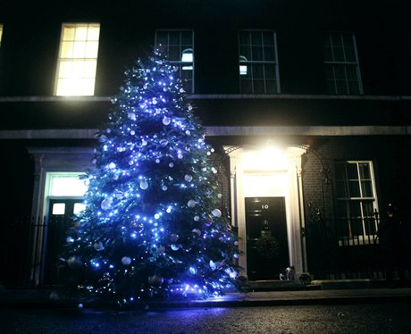 christmas decorations in Downing Street 2012