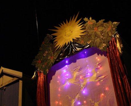 Beach Hut turned Advent Calendar