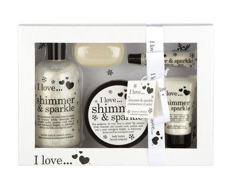 ad87e732 I Love Shimmer and Sparkle Set - Christmas Beauty Gifts for Her - Heart