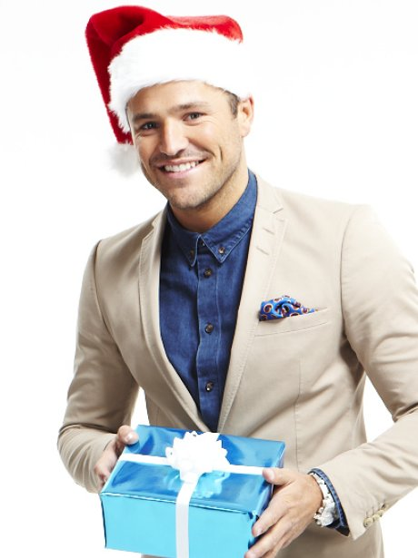 mark wright with christmas hat
