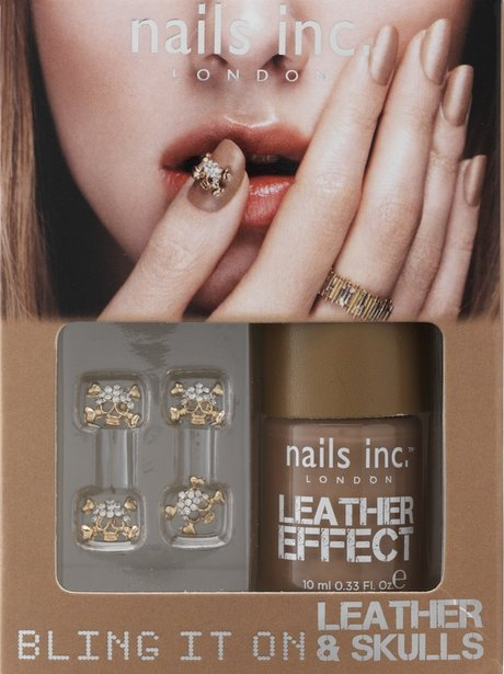 Nails Inc, Tan Leather Effect and Skulls