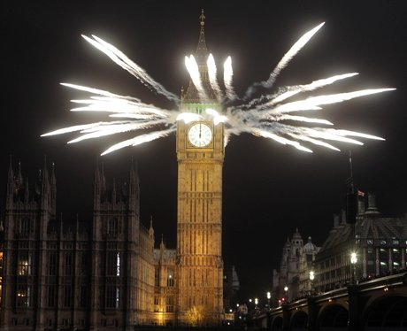 Big Ben fireworks New Year 2012