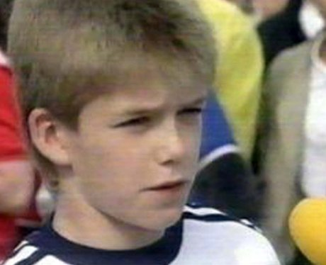 David Beckham as a child