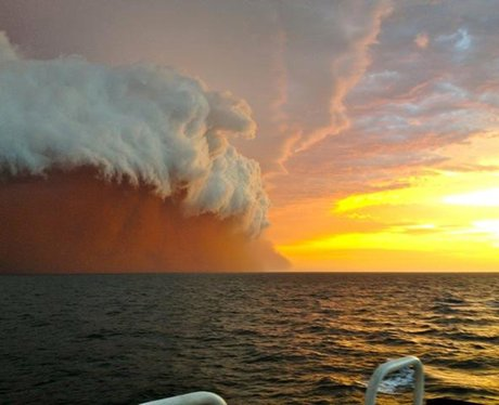 Dust storm seen off the coast of Australia