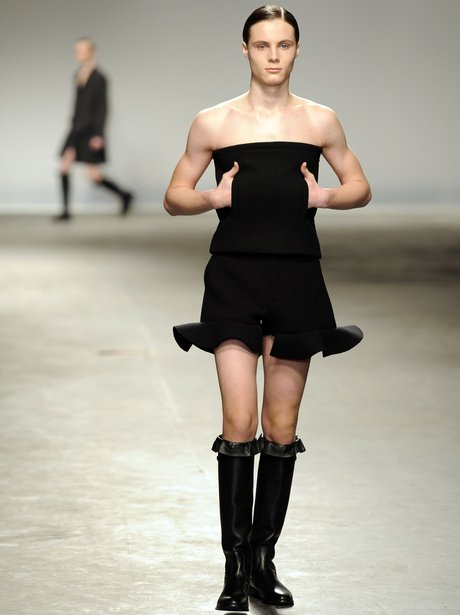 A model for  J.W.Anderson London Collections AW13