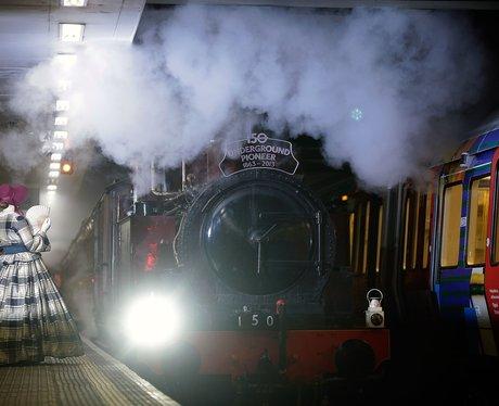 Steam train on the London Underground