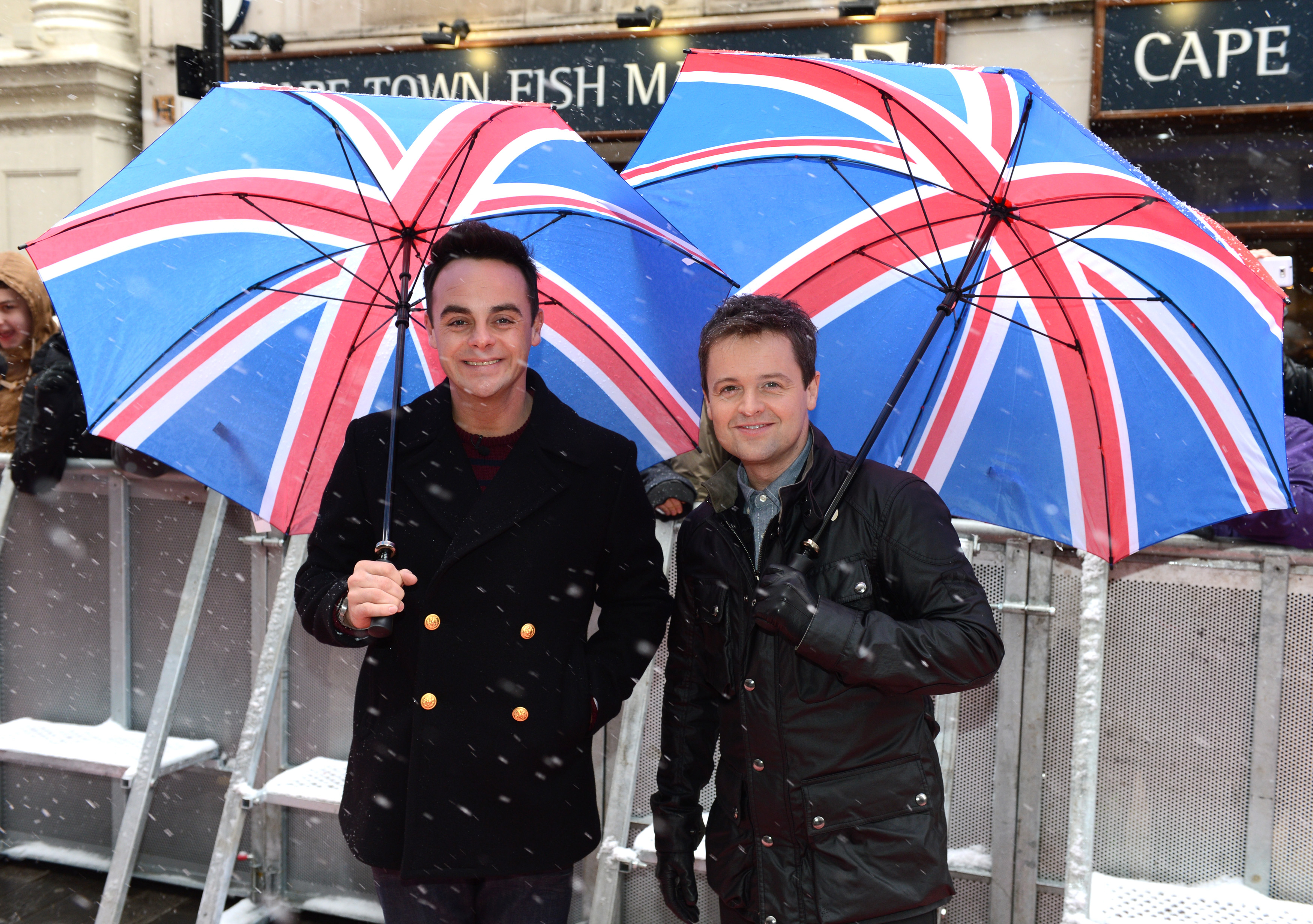 Ant and Dec in the snow