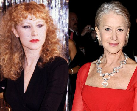 A young Helen Mirren and Helen Mirren age 67