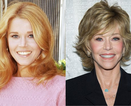 Jane Fonda then and now