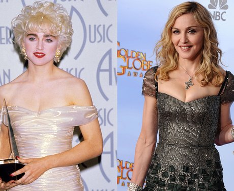 A young Madonna and Madonna at 54