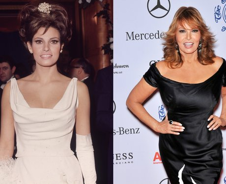 A young Raquel Welch and Raquel Welch age 72