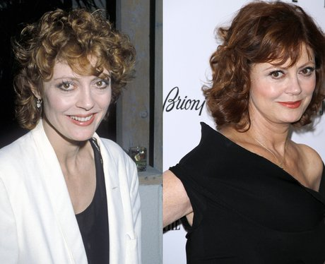 Susan Sarandon then and now