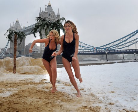 Pop up beach at Tower Bridge