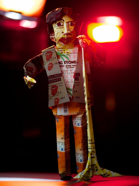 Mick Jagger made from tickets