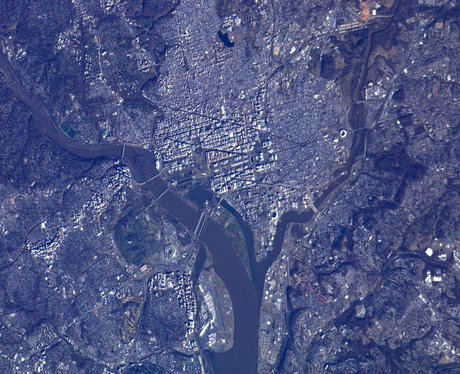 Washington DC from space