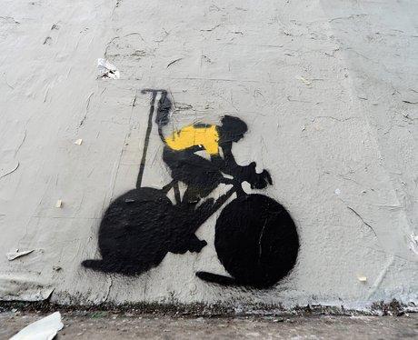Lance Armstrong graffiti bike