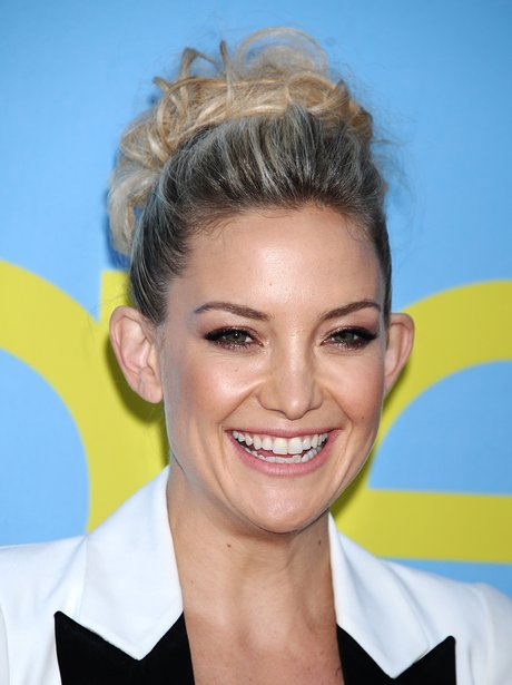 Kate Hudon wearing a top knot