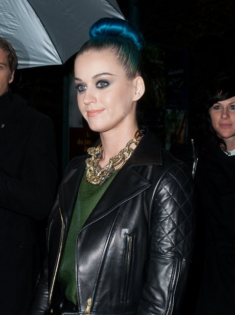 Katy Perry wearing a top knot